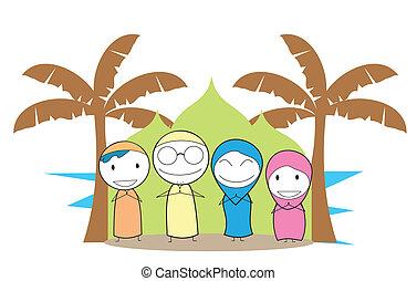 család, muzulmán