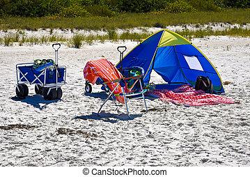 család nap, tengerpart