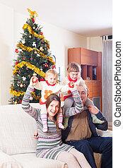 család, noha, karácsonyfa