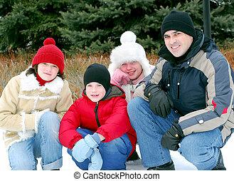család portré
