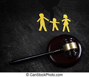 család, törvény, hasít