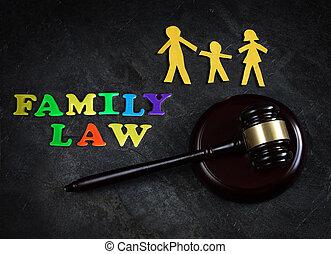 család, törvény, közül, három