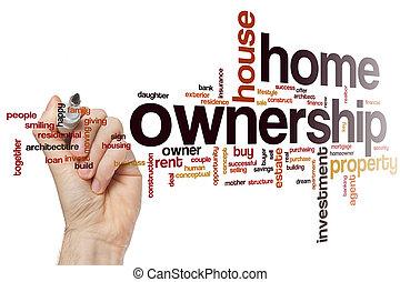 családi tulajdonjog, szó, felhő