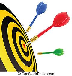 csapó, céltábla, darts