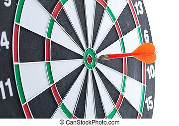 csapó, céltábla, piros, darts