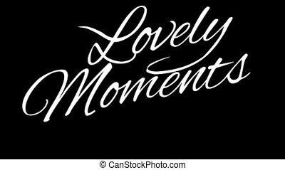 csatorna, bájos, calligraphic, cím, moments., alfa