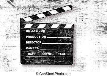 csattogó, film, grunge, bizottság