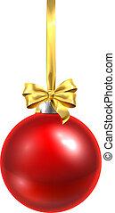 csecsebecse, christmas labda, pohár, díszítés, piros