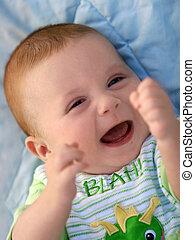 csecsemő, boldog