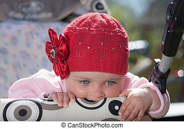 csecsemő, closeup