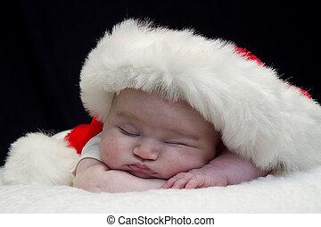 csecsemő, closeup, szent