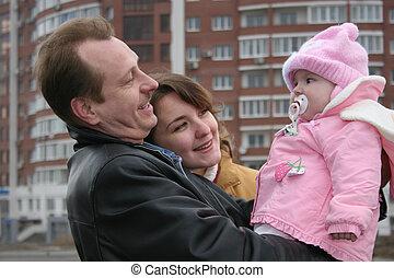csecsemő, család