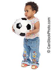 csecsemő, focilabda