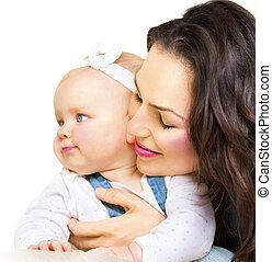 csecsemő, fogalom, anyaság, együtt, anya