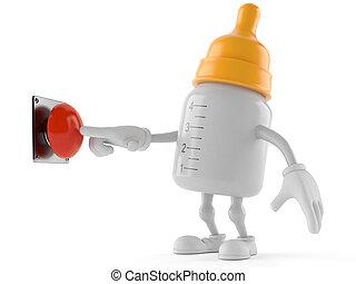 csecsemő, gombolódik tol, betű, palack