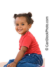 csecsemő, imádnivaló, afrikai