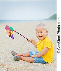 csecsemő, játékszer, szélmalom
