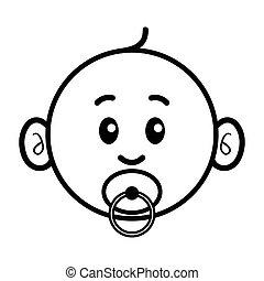csecsemő, karikatúra