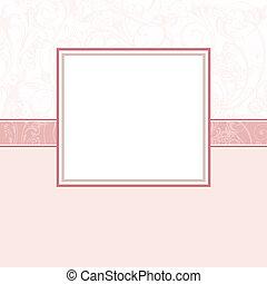 csecsemő lány, scrapbook, oldal, -, 2