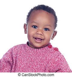 csecsemő, mosolygós, imádnivaló, afrikai
