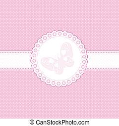 csecsemő, rózsaszín háttér