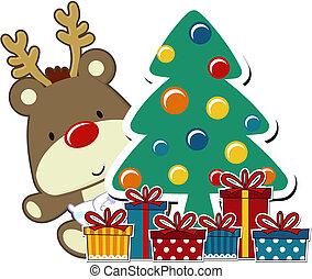 csecsemő, rudolph, karácsony