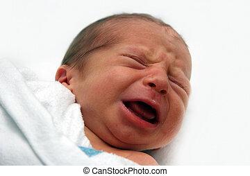 csecsemő sír