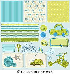 csecsemő, scrapbook, alapismeretek, tervezés