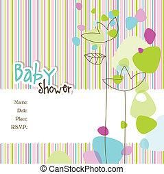 csecsemő shower, meghívás