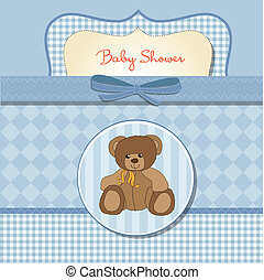 csecsemő shower, romantikus, kártya