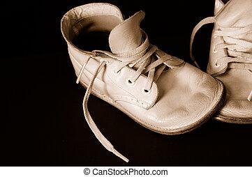 csecsemő, szüret, tintahal, cipők