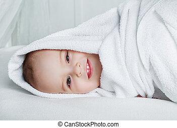 csecsemő, törülköző
