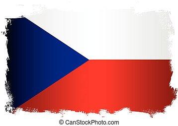 cseh, grunge, lobogó, köztársaság