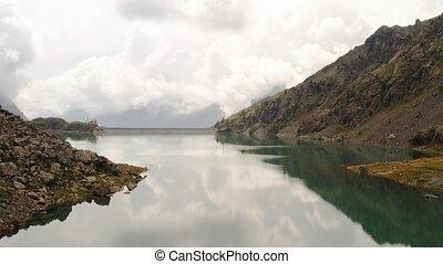 csendes, hegy tó