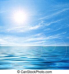 csendes, kilátás a tengerre