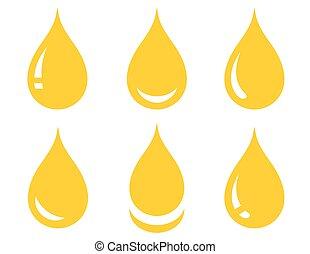csepp, állhatatos, sima, olaj