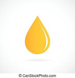 csepp, sárga, ikon