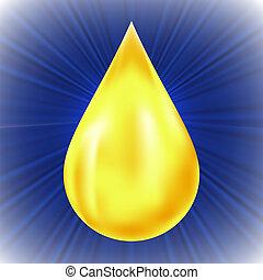 csepp, sárga, olaj