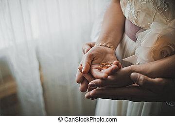 cserél, közül, esküvő gyűrű, 1341.