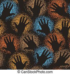 cserép, művészet, kéz