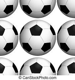 cserép, motívum, soccerballs, seamless, karikatúra