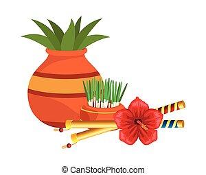 cserepes növény, aprófa, kerámiai, táncos, edény, virág