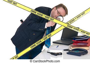 CSI crime scene investigator - CSI investigator researching...