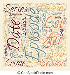 CSI Season 2 DVD Review text background wordcloud concept