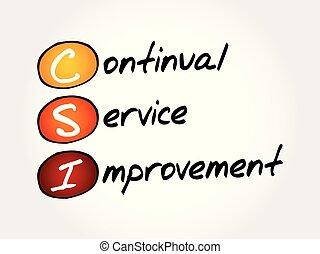 csi, servicio, siglas, -, mejora, continuo