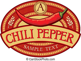 csilipaprika pepper, címke