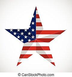 csillag, alatt, nemzeti lobogó, usa