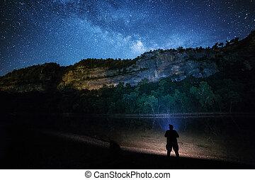 csillag bámul