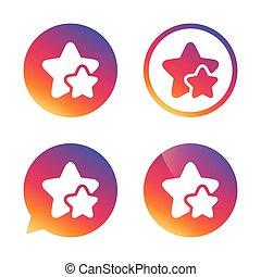 csillag, icon., kedvenc, cégtábla.