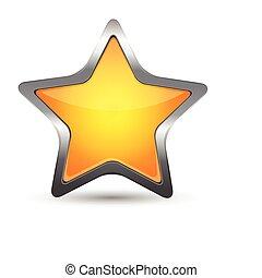 csillag, sárga, ikon